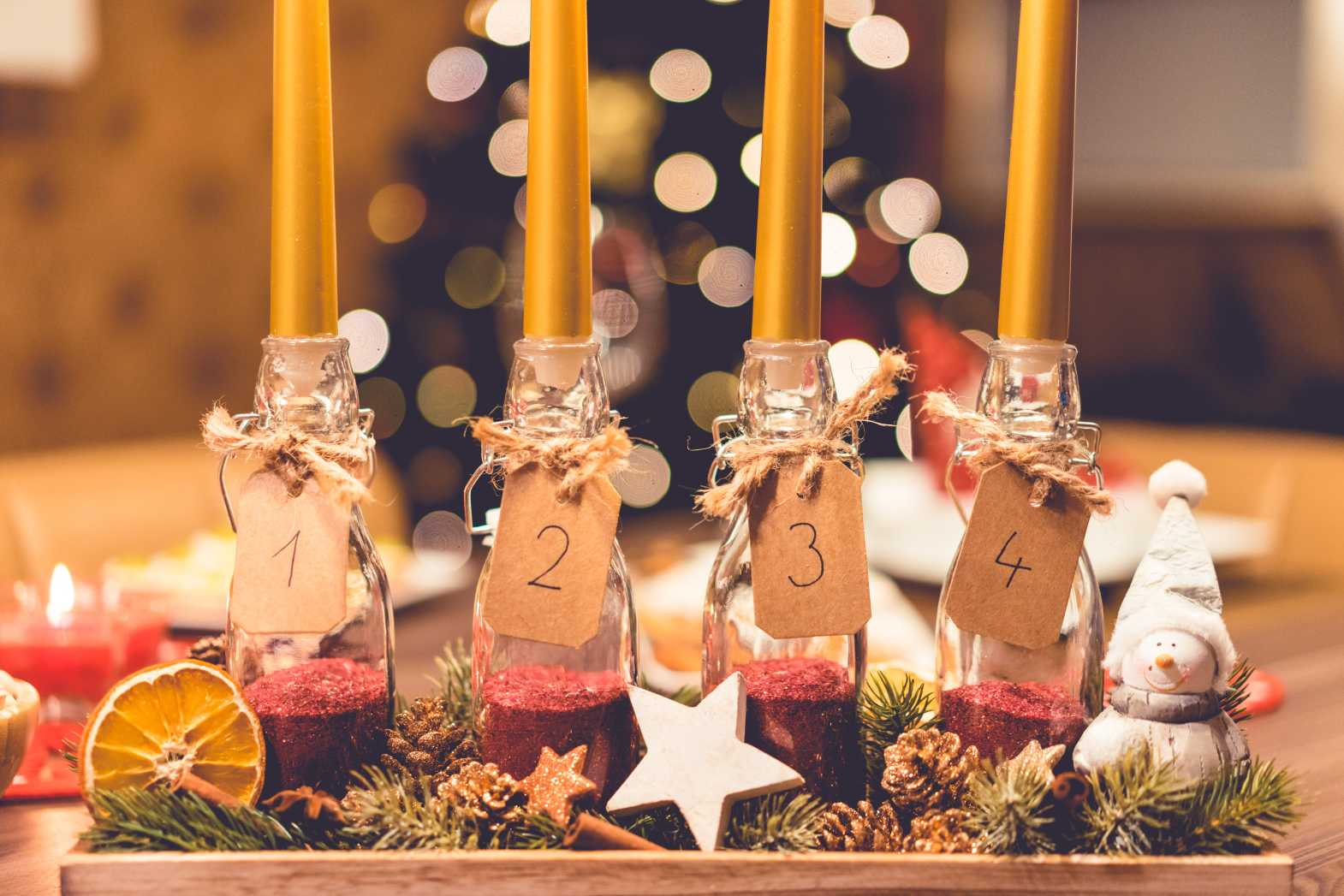 advent candles free stock image