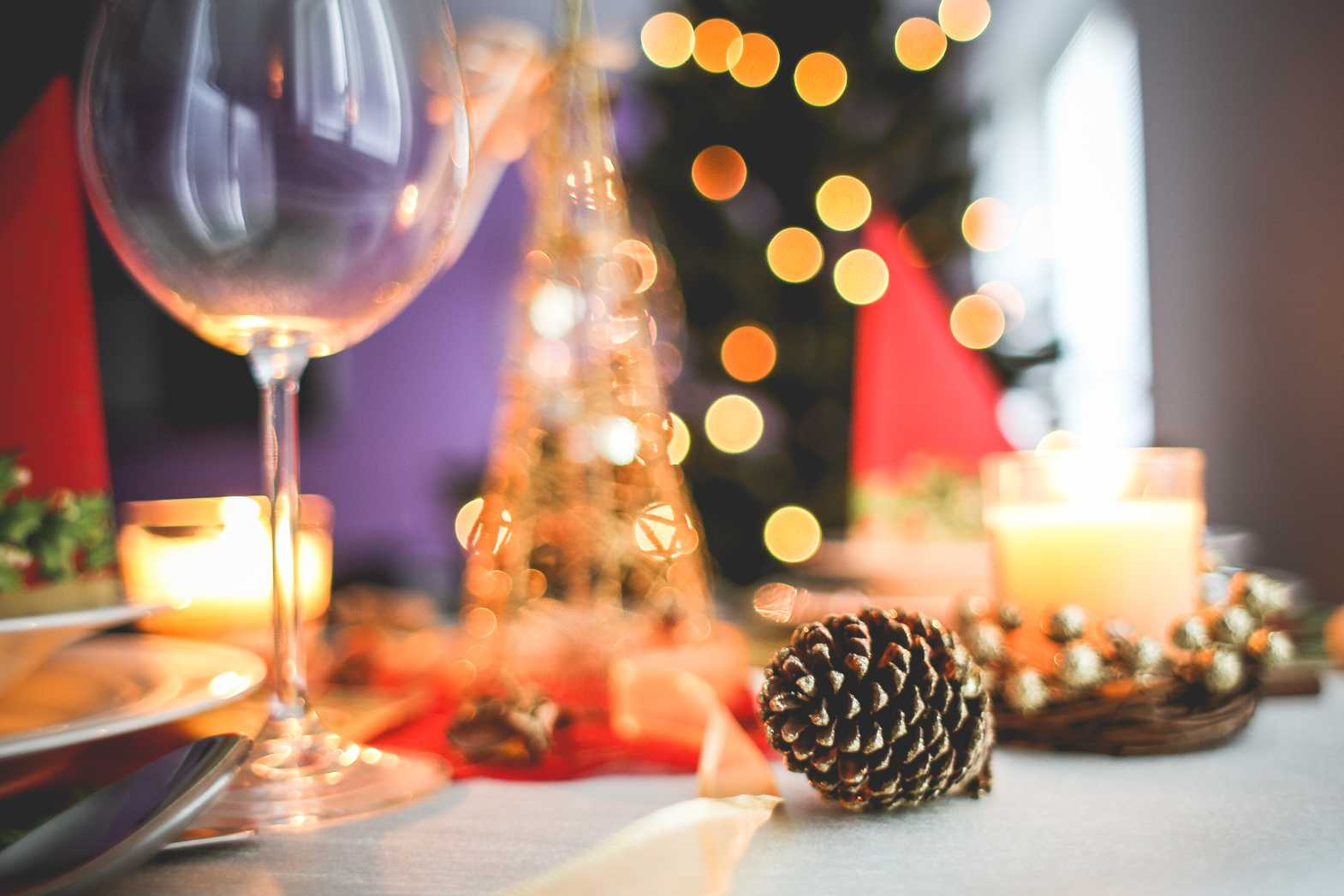bokeh table setting decoration free stock photo download