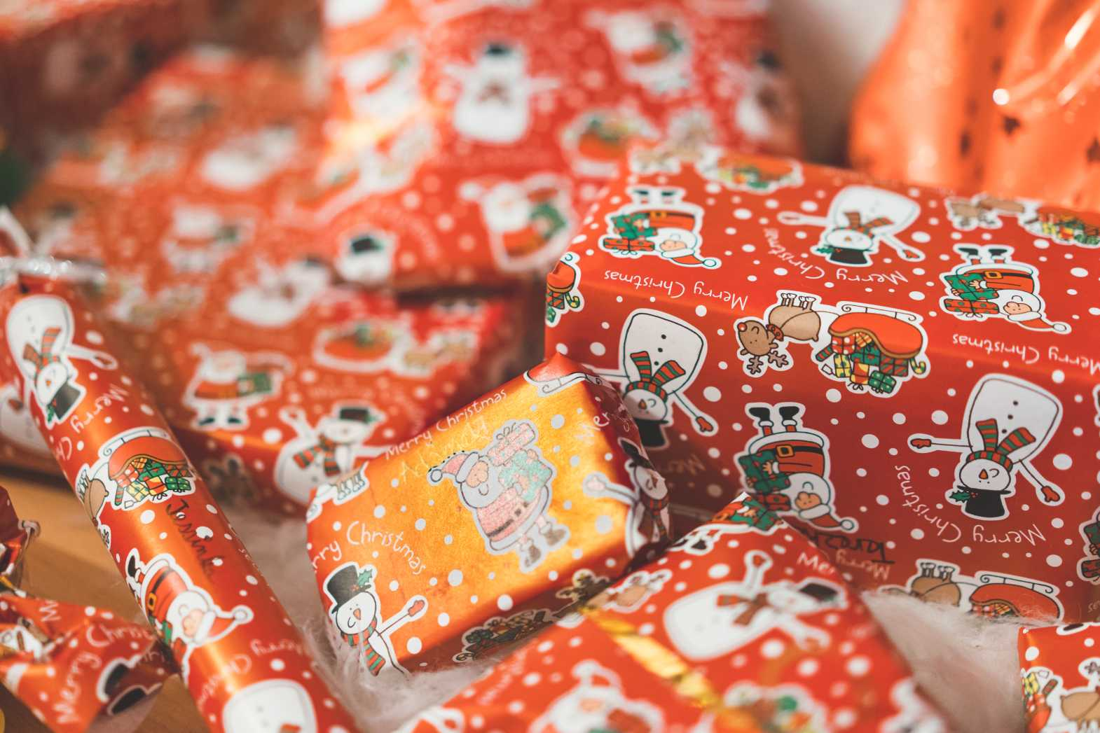 colorful christmas gifts free photo
